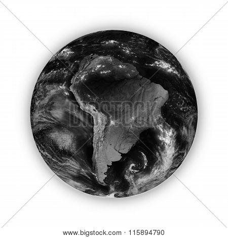 South America On Dark Planet Earth