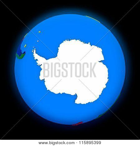 Antarctica On Political Earth