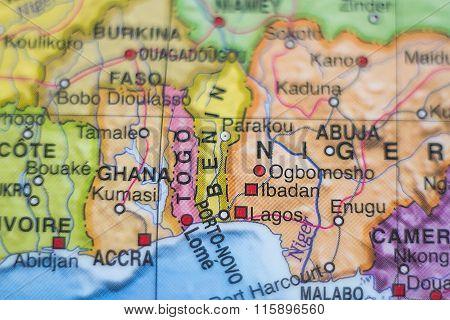 Benin Country Map .