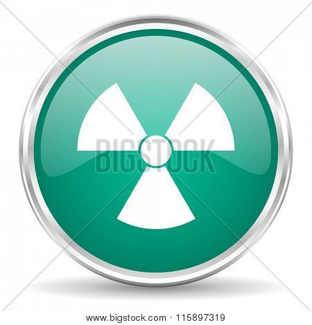 radiation blue glossy circle web icon