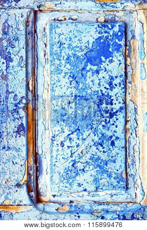 Nail Stripped Paint In The Blue Door And Rusty