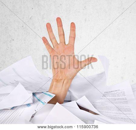 Paperwork Drowning.