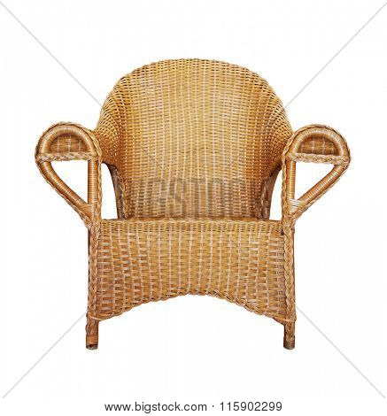 Wattled Armchair isolated on white background