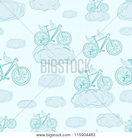 Seamless winged bicycles