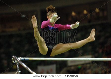 Gymnast Uneven Bars 002