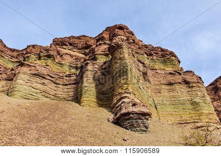 Layered Rock Formations In The Quebrada De Las Conchas, Argentina