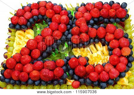 Design of fruits and berries on 25 year Anniversary.