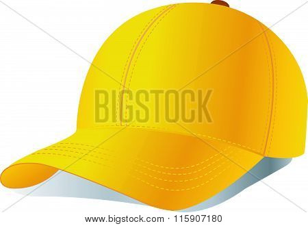 Vector baseball cap on white background