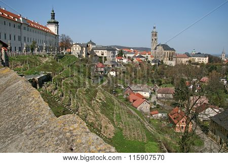 Kutna Hora, Czech Republic - April 17, 2010: View Of The Church Of St. James (st. Jacob Church) And