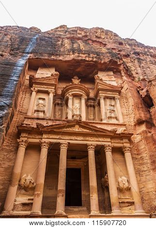 Al Khazneh - The Treasury Of Petra Ancient City
