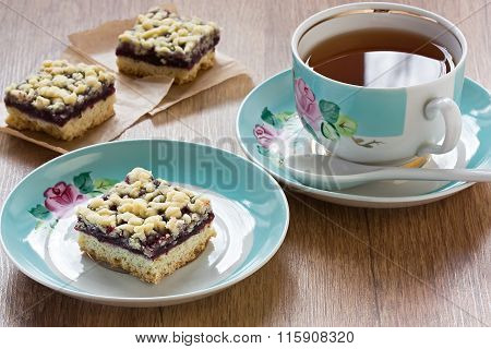 Crumble Pie And Cup Tea