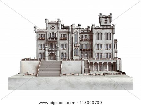 Fairytale Castle On White