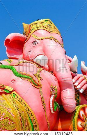 pink Ganesh statue