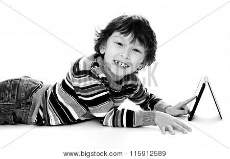 happy young asian boy