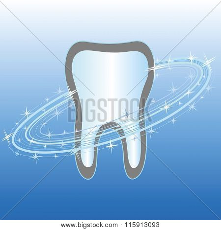 Dental care symbol icon