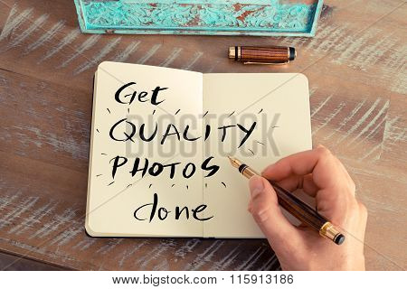 Handwritten Text Get Quality Photos Done