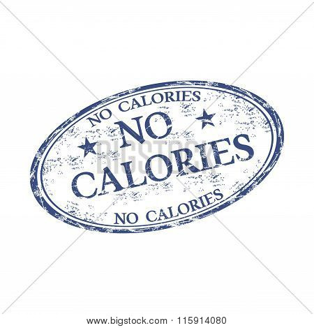 No calories rubber stamp
