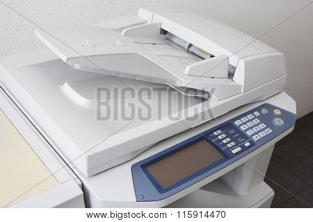 Office Multifunction Printer Or Copy Machine Isolated