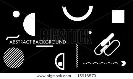 Minimal Abstract Background Black And White