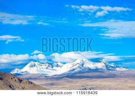 landscape in Andes. Peru.