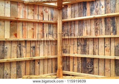 Wooden roof background closeup
