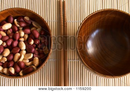 Wooden Noggin With Peanuts