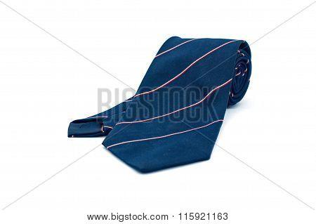 Blue Necktie On White Background