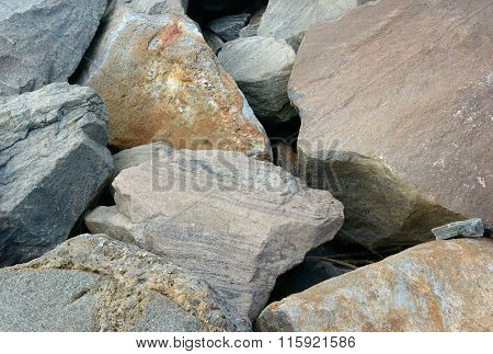 background of large granite stones