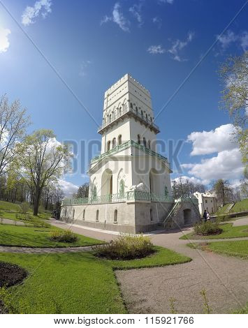 The White Tower in Tsarskoye Selo in Aleksandrovsky park Pushkin Russia