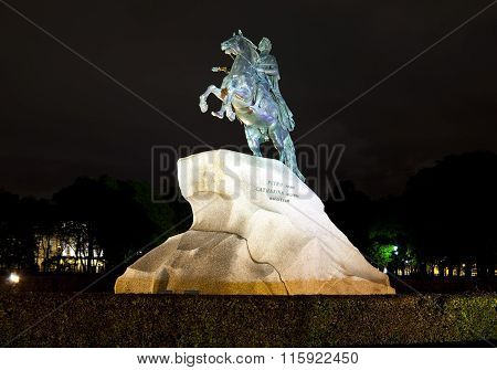 Russia. Petersburg. Monument to tsar Peter 1