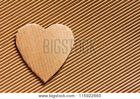 heart cut out of cardboard