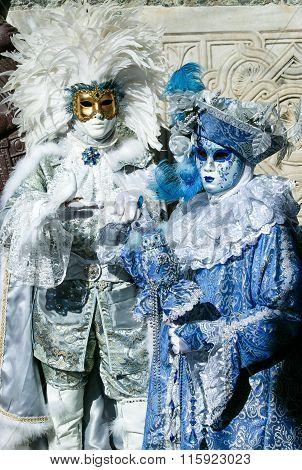 Beautiful Carnival masks at Venice Carnival, Italy