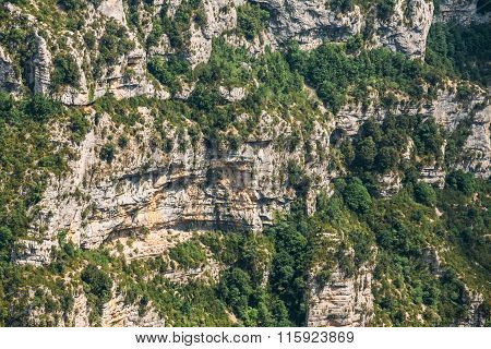 Rocky background of the Gorges Du Verdon in France.