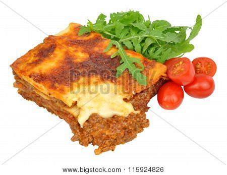 Beef Lasagne With Lettuce And Tomatoes