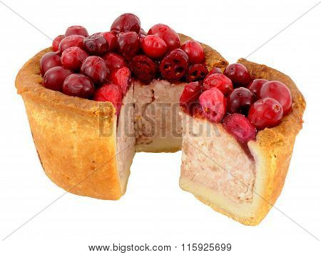 Cranberry Topped Pork Pie