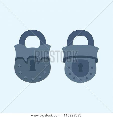 Vintage lock icon