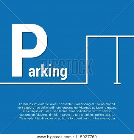 parking design concept with place for text