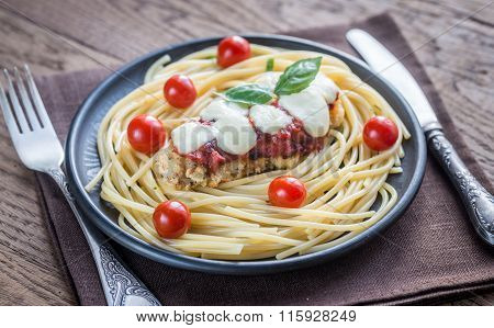 Baked Chicken With Parmesan And Mozzarella