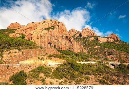 Esterel mountain, France