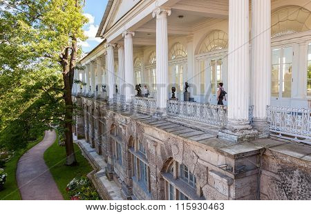 View Of The Cameron Gallery In Catherine's Park In Pushkin (tsarskoe Selo)