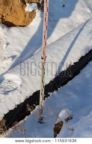 Measuring Control On The Route Of The Pipeline Installation