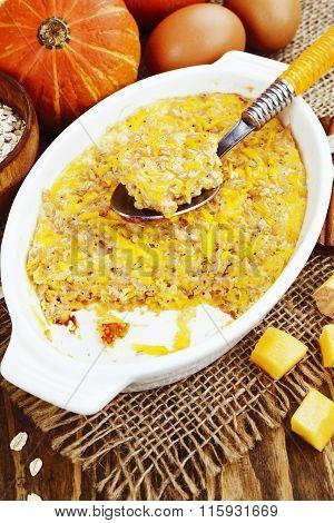 Casserole Of Pumpkin And Oatmeal