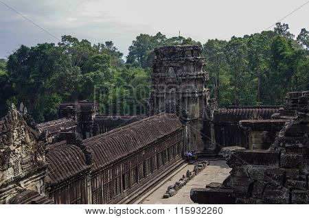 Angkor Wat - Khmer Temple In Siem Reap Province, Cambodia, Southeast Asia. Unesco World Heritage Sit