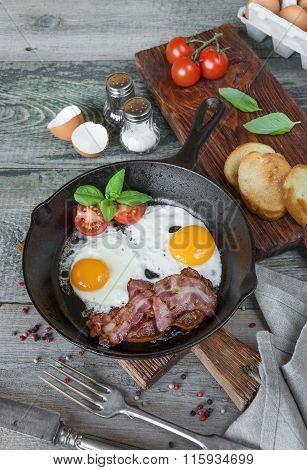 Breakfast In A Rustic Style
