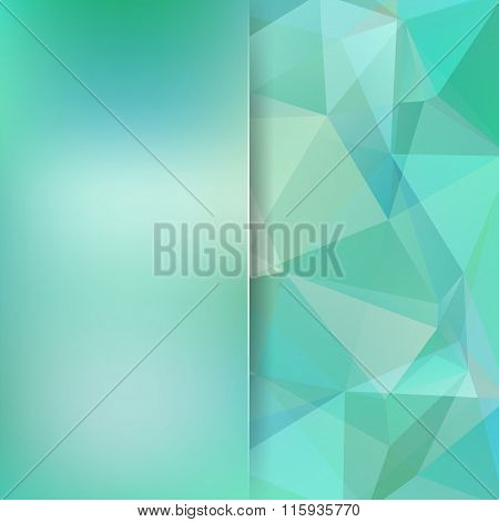 Abstract Geometric Style Light Green Background. Light Business Background Blur Background With Glas