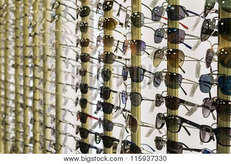 Rows Of Designer Consumer Sunglasses