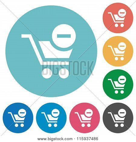 Flat Remove From Cart Icons