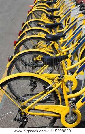 Number Of Bicycles In The Store Of The Urban Bike-sharing To Mov