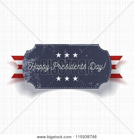 Happy Presidents Day big realistic Banner Template