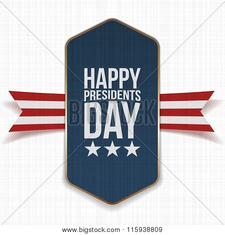 Happy Presidents Day big Poster with Ribbon